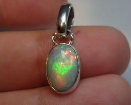 Honeycomb Blazing Welo Solid Opal Pendant