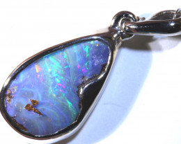 13.10 CTS BOULDER OPAL SILVER PENDANT OF-2560