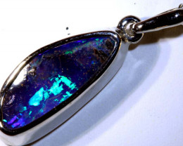 16 CTS BOULDER OPAL SILVER PENDANT OF-2562
