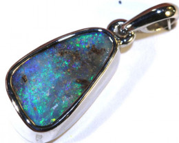 10.10 CTS BOULDER OPAL SILVER PENDANT OF-2563