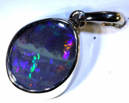 12.25 CTS BOULDER OPAL SILVER PENDANT OF-2564