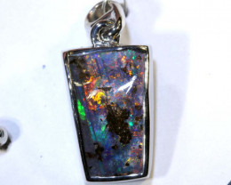 11.95 CTS BOULDER OPAL SILVER PENDANT OF-2588
