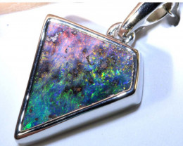 11.30 CTS BOULDER OPAL SILVER PENDANT OF-2589