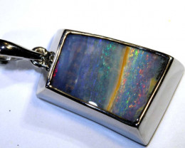 25.90 CTS BOULDER OPAL SILVER PENDANT OF-2591