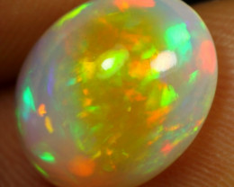 3.65cts Strong Broad Neon Fire Natural Ethiopian Welo Opal