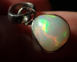 Sterling Silver Blazing Welo Solid Opal