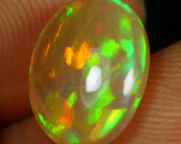 SUPER DEAL 2.75cts Strong Neon Fire Natural Ethiopian Welo Opal