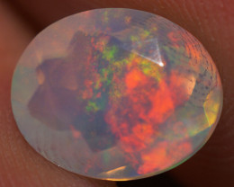 1.90 CT 10X8 MM Good Quality Faceted Cut Ethiopian Opal-EBF399