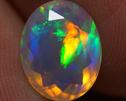 1.95 CT 10X8 MM Good Quality Faceted Cut Ethiopian Opal-EBF400