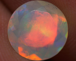 1.12 CT 8X8 MM Good Quality Faceted Cut Ethiopian Opal-EBF408