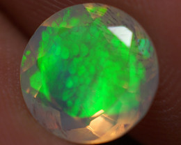 1.32 CT 8X8 MM Good Quality Faceted Cut Ethiopian Opal-EBF415