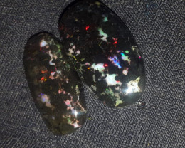 23.00 CRTBROAD FLASH PLAY COLOR INDONESIAN OPAL WOOD FOSSIL
