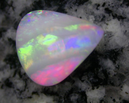 2.46ct EXTR BRIGHT FULLY SATURATED DOUBLE SIDED STRIPE PATERN OPAL