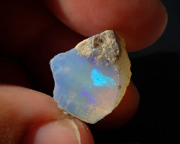 15.98 cts Blazing Welo Solid Cutting Rough  PinFire Opal