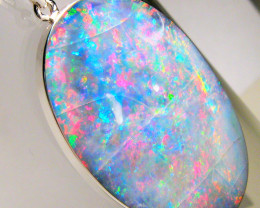 Opal Pendant Rare Australian Mintabie HUGE Inlay Natural Red Gem Gift 52ct