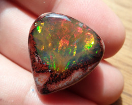 21.45 cts Mexican Matrix Cantera Multicoloured Fire Opal