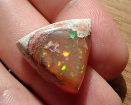 17.91 cts Mexican Matrix Cantera Multicoloured Fire Opal