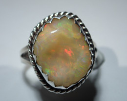 7 Sz Sterling .925 Blazing Welo Solid Opal