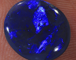 2.95ct 11.5x10mm Solid Lightning Ridge Black Opal [LO-1572]