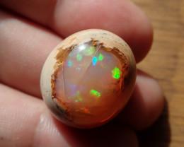 39.28ct Mexican Matrix Cantera Multicoloured Fire Opal