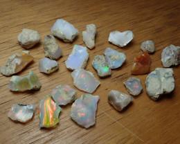 79 cts Cutting  Rough Ethiopian Wello Opal Lot