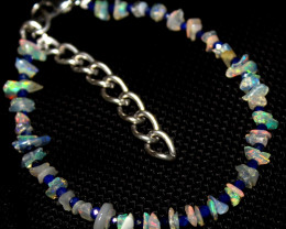 13 Crt Natural Ethiopian Welo Fire Uncut Opal & Lapis Lazuli Bracelet 4