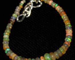 23 Crts Natural Ethiopian Welo Fire Opal Beads Bracelet 218