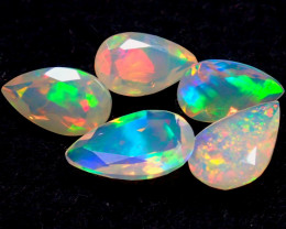 MIXED SIZE 3.02CT NATURAL CALIBRATED FACETED ETHIOPIA UNTREATED OPAL