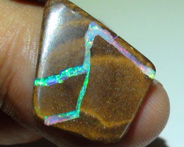 7.40 ct Gem Multi Color Queensland Boulder Opal