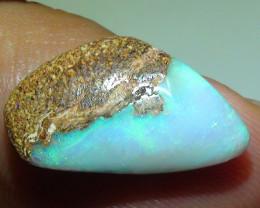 5.55 ct Green Color Queensland Boulder Opal Pipe