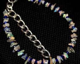13 Crt Natural Ethiopian Welo Fire Uncut Opal & Lapis Lazuli Bracelet 3