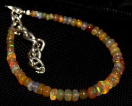 30 Crts Natural Ethiopian Welo Fire Opal Beads Bracelet 206