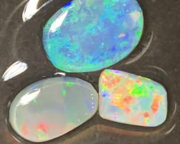 5.5 CTs GEM RUBS; Solid/Natural Lightning Ridge Rub Opals, #477