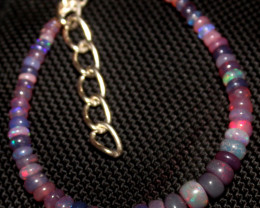 18 Crt Natural Ethiopian Welo Fire Smoked Opal Beads Bracelet 277