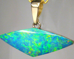 Rare Australian Opal Pendant 14kt Gold Genuine Natural Jewelry 8.2ct Gift A