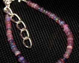 12 Crt Natural Ethiopian Welo Fire Smoked Opal Beads Bracelet 274