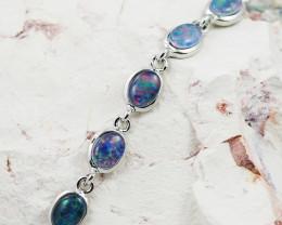 Australian Triplet Opal in Creative Strong Bracelet WS1004