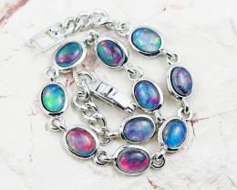 Australian Triplet Opal in Creative Strong Bracelet WS1009