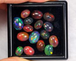 10.84cts Natural Ethiopian Black Welo Opal Lot DD103