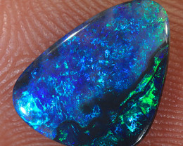 0.85ct 11x8mm Solid Lightning Ridge Black Opal [LO-1591]