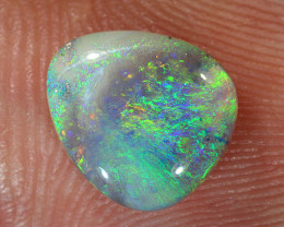 1.2ct 9x8mm Solid Lightning Ridge Dark Opal [LO-1596]