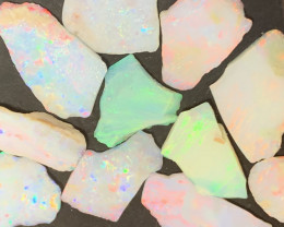 25 Cts of High End White Cliffs Inlay Opals,#521
