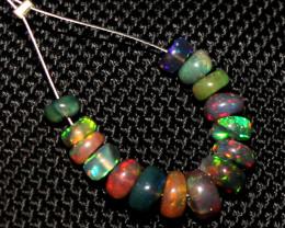 5.95 Crts Natural Ethiopian Welo Smoked Opal Beads Demi Strand 66