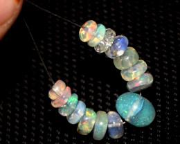 5.65 Crts Natural Ethiopian Welo Opal Beads Demi Strand 107