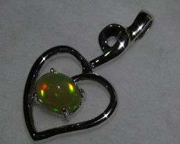 18.55 ct Stunning Modern 925 Silver Solid Welo Opal Pendant