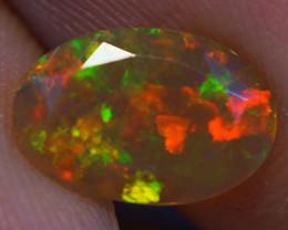 0.86 CT DARK BASE AAA  Welo  Ethiopian Faceted Opal -EBF465
