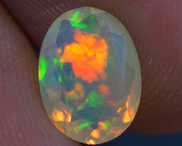 1.00 CT 9X7 MM  Top Quality Welo  Ethiopian Faceted Opal -EBF