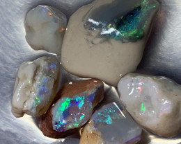 24.3 CTs Stunning Opals; Solid/Natural Lightning Ridge Rough Opals, #530