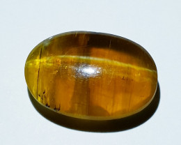 6.25 ct  Natural Honey Color Oval Cabochon Opal Cat's Eye