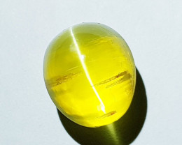 4.40 ct  Natural Pale  Honey Color Oval Cabochon Opal Cat's Eye